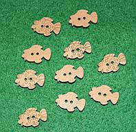 Пуговица Рыбка 618 поштучно, фото 1