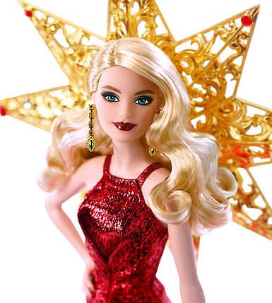 Коллекционная кукла Барби праздничная 2017 Блондинка Barbie Holiday Blonde Hair, фото 2