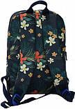 Молодежный сине-бордовый рюкзак Bagland mini 8л размером 32*23*10 см, фото 3