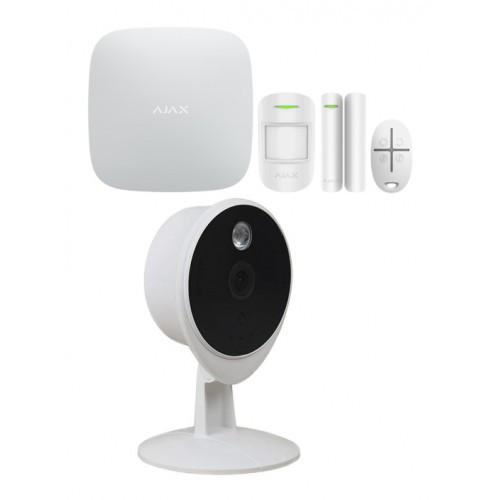 Комплект беспроводной сигнализации Ajax StarterKit (black/white) + IP камера Tecsar Airy TA-2 Litе