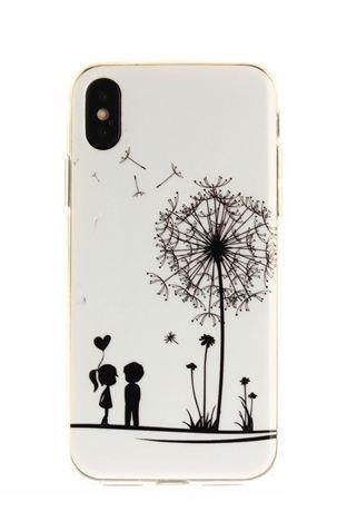 Силиконовый чехол бампер для Iphone X с рисунком Одуванчик
