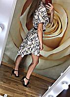 Шикарное женское платье клёш с поясом лето