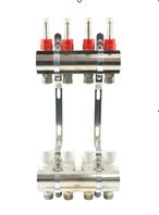 Коллектор для систем отопления GROSS латунь покрытая на шесть выходов
