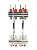 Коллектор для систем отопления GROSS латунь покрытая на одиннадцать выходов