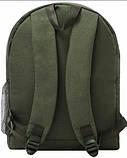 Молодежный зеленый рюкзак унисекс Bagland W/R 17 л (цвет 35) размер 38*29*15 см, фото 3
