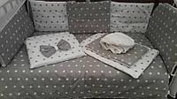 Детский постельный комплект Эко серый