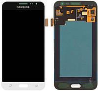 Дисплей (экран) для телефона Samsung Galaxy J3 (2016) J320H + Touchscreen White