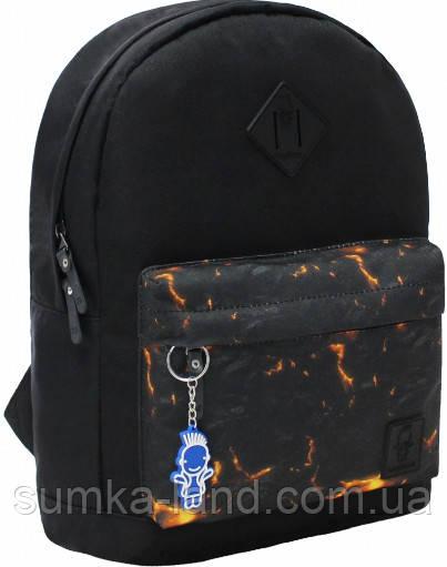 Молодежный черный рюкзак унисекс Bagland W/R 17 л (цвет 83) размер 38*29*15 см