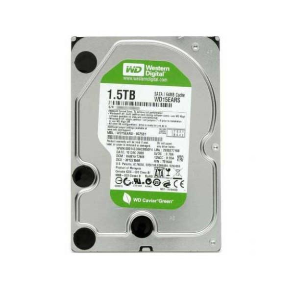 """Жесткий диск Western Digital Caviar Green 1.5TB 5400rpm 64МB WD15EARS 3.5 SATA II """"Over-Stock"""" Б/У"""