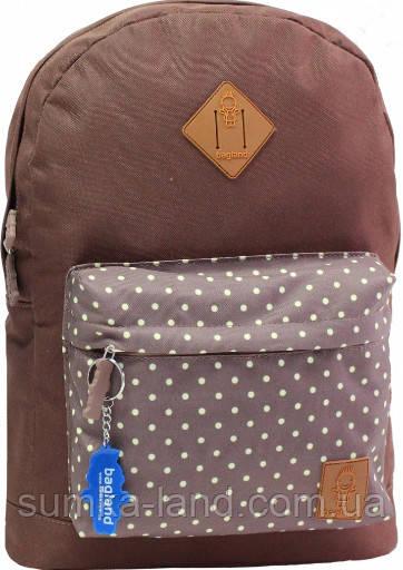 Молодежный коричневый рюкзак унисекс Bagland W/R 17 л (горох) размер 38*29*15 см