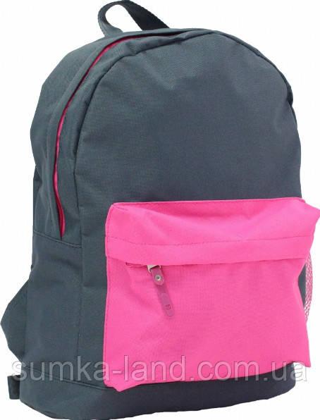 Молодежный рюкзак унисекс Bagland W/R 17 л (цвет серый/розовый) размер 38*29*15 см
