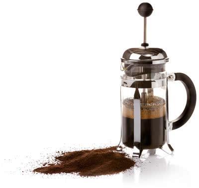 кофе в френч-прессе