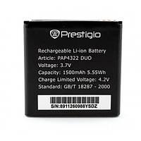 Батарея (акб, аккумулятор) PAP4322 для Prestigio MultiPhone 4322 Duo (1500 mAh) оригинал