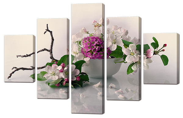 Модульная картина Весенний натюрморт 108* 70 см Код: w 8849