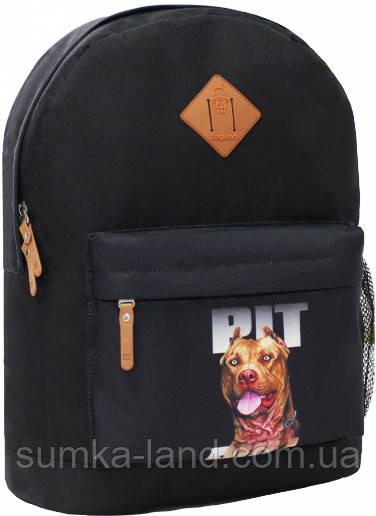 Молодежный черный рюкзак унисекс Bagland W/R 17 л (цвет 8) размер 38*29*15 см