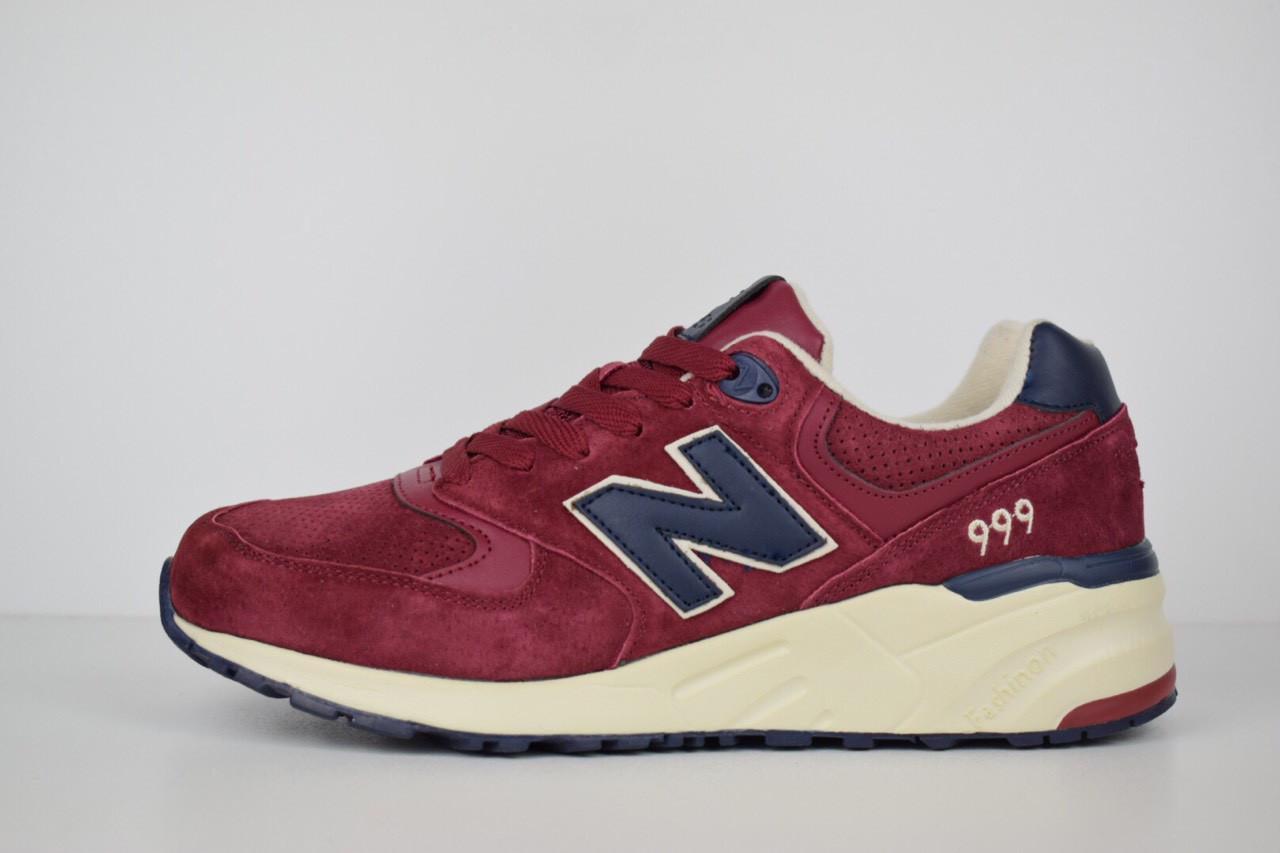 Мужские кроссовки New Balance 999 бордовые 1484  продажа 836ec738d83e2