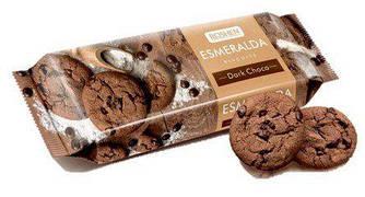 Печенье Эсмеральда с какао кусочками глазури 150г Рошен