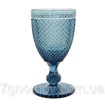 Набор 6 высоких бокалов из синего цветного стекла Аврора 250 мл, фото 2