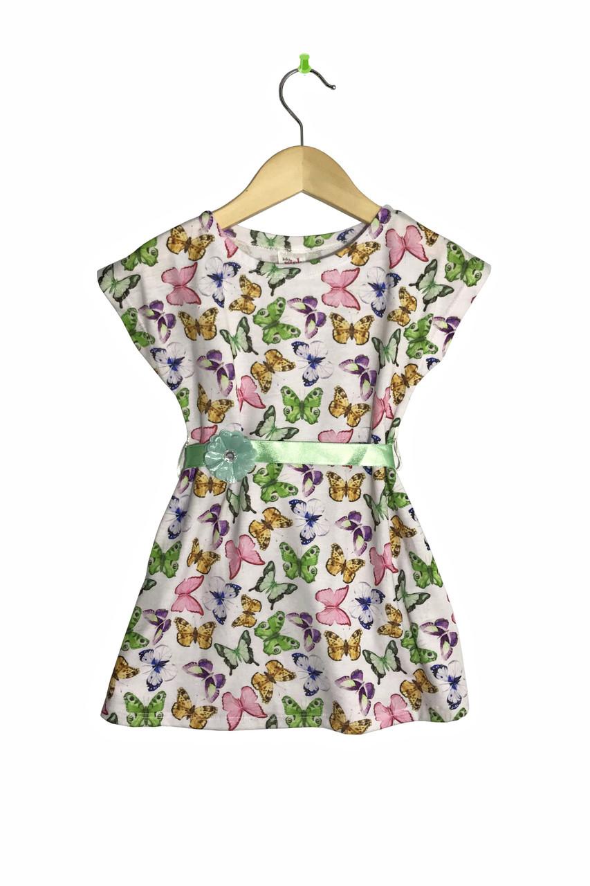 """Детское платье с коротким рукавом """"Бабочки"""""""
