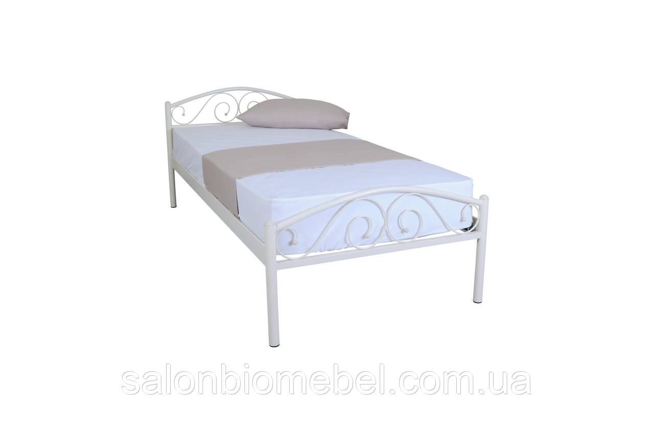 Кровать металлическая Респект 0,9 бежевая