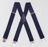 Мужские широкие подтяжки Paolo Udini черно-синие, фото 1