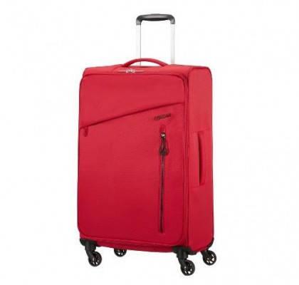 Средний текстильный чемодан на 4-х колёсах American Tourister Litewing