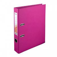 Папка-регистратор двухсторонняя Delta D1711, А4, 5 см, розовая