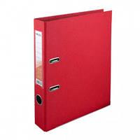 Папка-регистратор двухсторонняя Delta D1711, А4, 5 см, красная