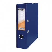 Папка-регистратор двухсторонняя Delta D1712, А4, 7,5 см, синяя