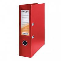 Папка-регистратор двухсторонняя Delta D1712, А4, 7,5 см, красная