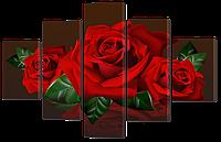 Модульная картина Три красные розы 108* 70 см Код: w8809
