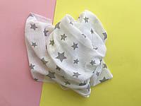 Муслиновые пеленки для новорожденных, белая, серая