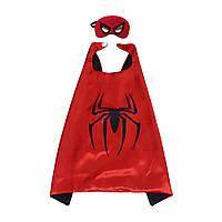 Детский плащ с маской Спайдермен (костюм SpiderMan)