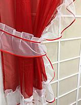 """Готовые  Шторки для кухни """"Дорис"""" Красный, фото 2"""