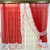 """Готовые  Шторки для кухни """"Дорис"""" Красный, фото 3"""