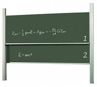 Доска академическая, 120x200, ротационная, STKK1220P3, для мела/мела