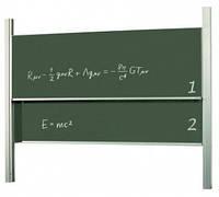 Доска академическая, 120x250, ротационная, STKK1225P3, для мела/мела