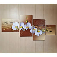 "Модульная картина ""Цветы орхидеи""  (700х1510 мм)  [4 модуля]"