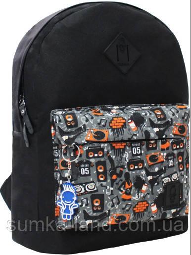 Молодежный черный рюкзак унисекс Bagland W/R 17 л (цвет 68) размер 38*29*15 см