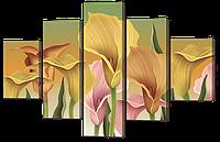Модульная картина Каллы разноцветные 108* 70 см Код: w8819