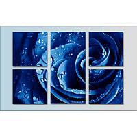 """Картина модульная """"Синяя роза""""  (900х600 мм)  [5 модулей]"""