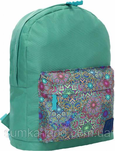 Молодежный зеленый рюкзак унисекс Bagland W/R 17 л (цвет 35) размер 38*29*15 см