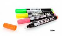 Набор флуорисцентных маркеров для стеклянных досок, AS143
