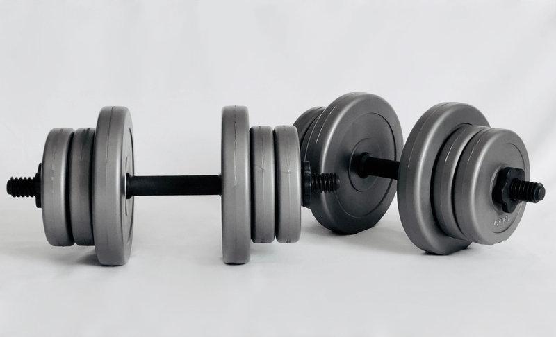 Гантели разборные наборные битумные 2 по 10 кг