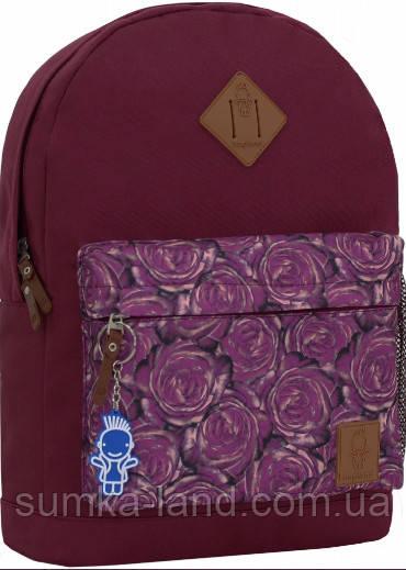 Молодежный вишневый рюкзак унисекс Bagland W/R 17 л (цвет 155) размер 38*29*15 см