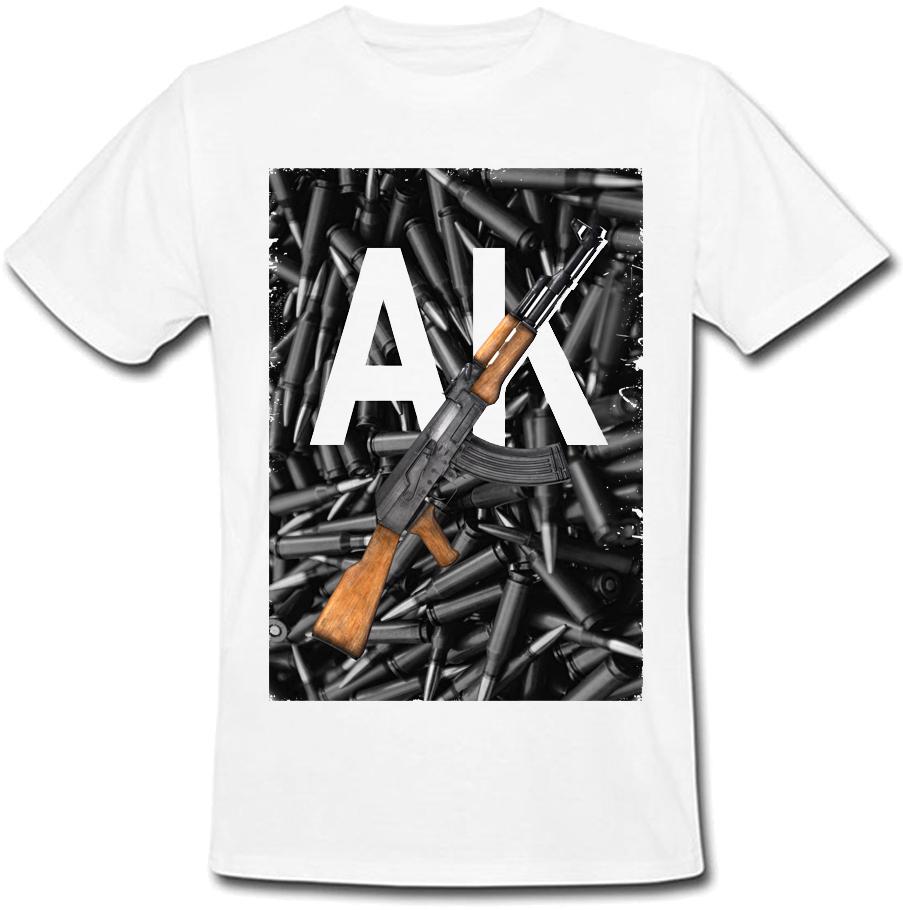Футболка AK - 47 (белая)
