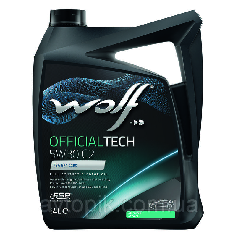 Моторное масло Wolf Officialtech C2 5W-30 (4л.)