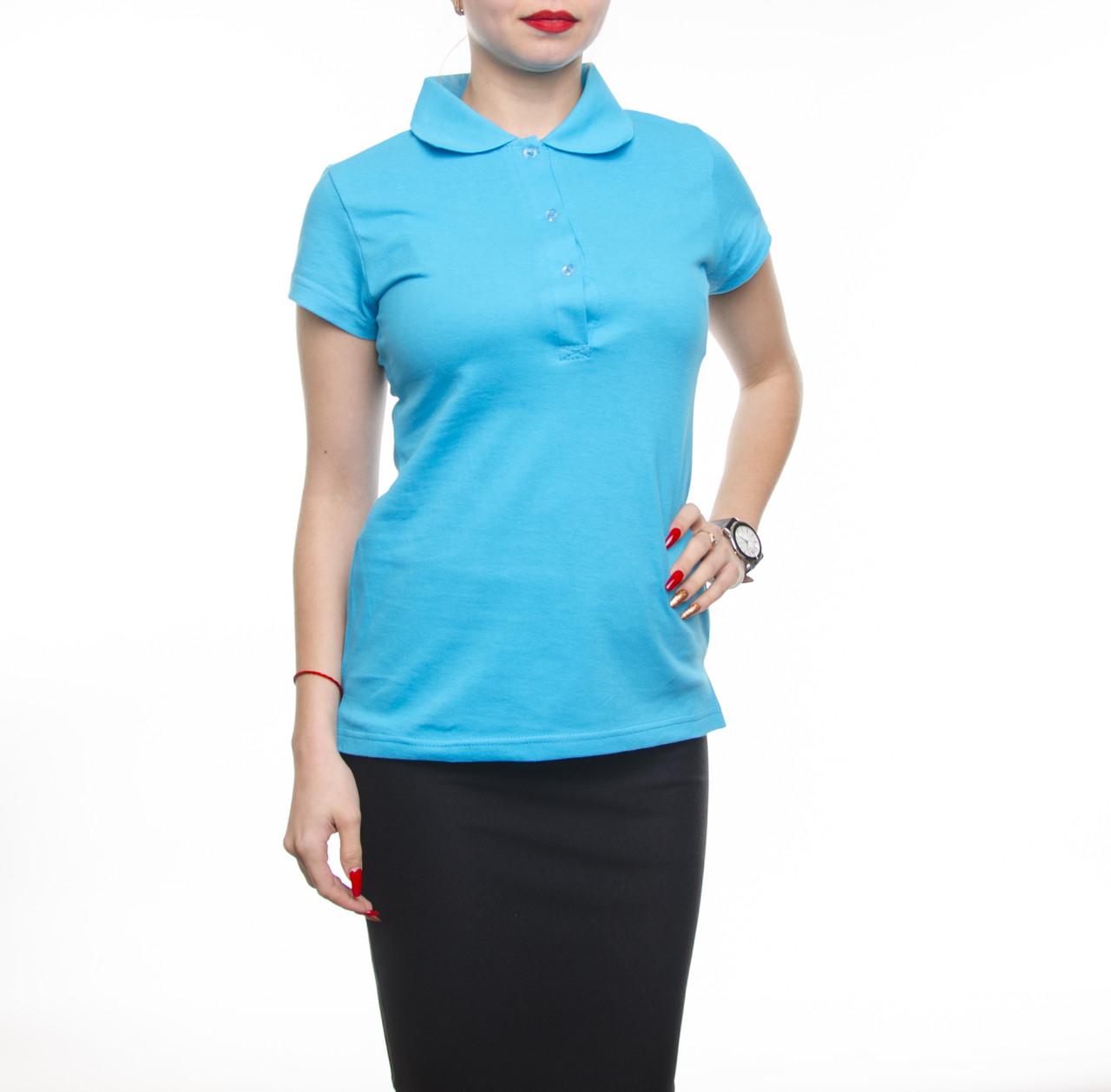 Bono Женская футболка Поло голубая 400153