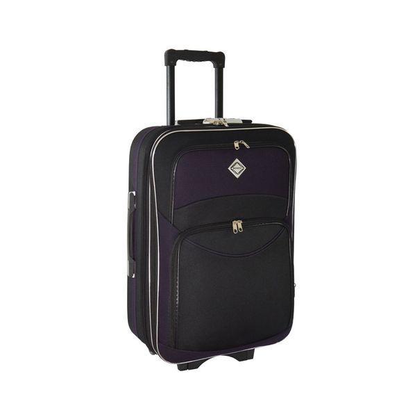 Чемодан сумка дорожный Bonro Style (средний) черно-т. фиолетовый