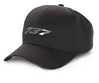 Оригинальная бейсболка Boeing 737 Midnight Silver Hat 115015010628 (Black)
